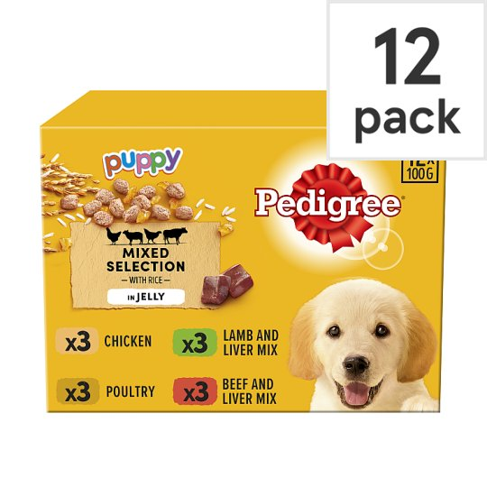 Pedigree Jelly Puppy Food Pouches 12 X100g