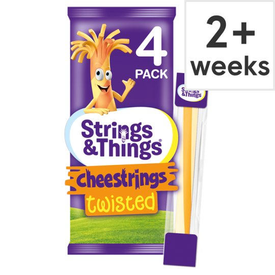 Cheese Strings Twisted 4 Pack 80G