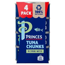 image 1 of Princes Tuna Chunks In Spring Water 4 4X145g
