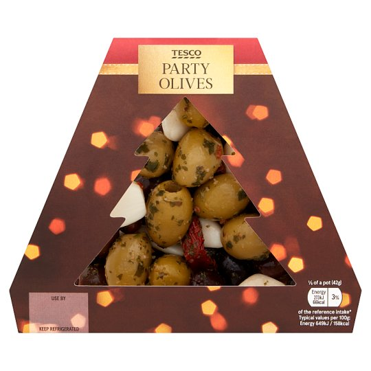 Tesco Party Olive Mix 210G