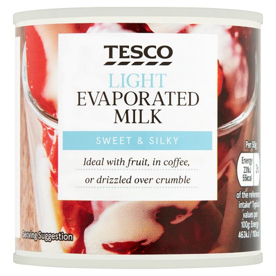 Tesco Low Fat Evaporated Semi Skimmed Milk 170G