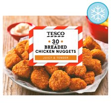 image 1 of Tesco 30 Breaded Chicken Nuggets 450G