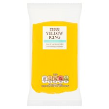 Tesco Ready To Roll Coloured Icing Yellow 250G