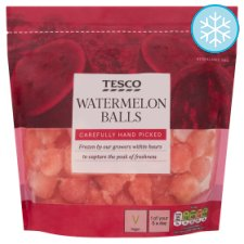 Tesco Frozen Watermelon Balls 500G
