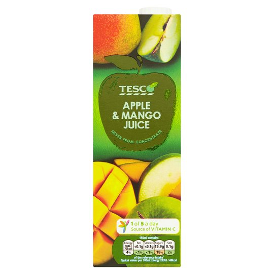 Tesco Apple And Mango Juice Not From Concentrate 1 Litre