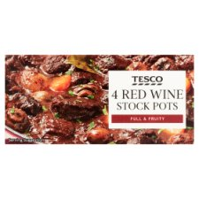 Tesco Red Wine Stock Pots 4 Pack 112G