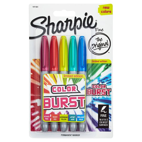 Sharpie Permanent Markers Cosmic Colour 5 Pack