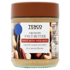 Tesco 100% Crunchy 3 Nut Butter 170G