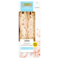 Tesco Prawn Mayonnaise Reduced Calorie Sandwich 163G