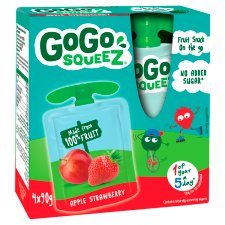 GoGo SqueeZ Fruit Snack Apple Strawberry 4X90g