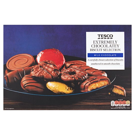 Tesco Milk Chocolate Biscuit Assortment 450G