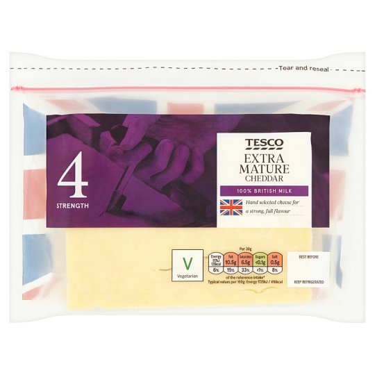 Tesco British Extra Mature Cheddar Cheese 460G