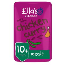Ella's Kitchen Chicken Curry With Veggie Rice 190G