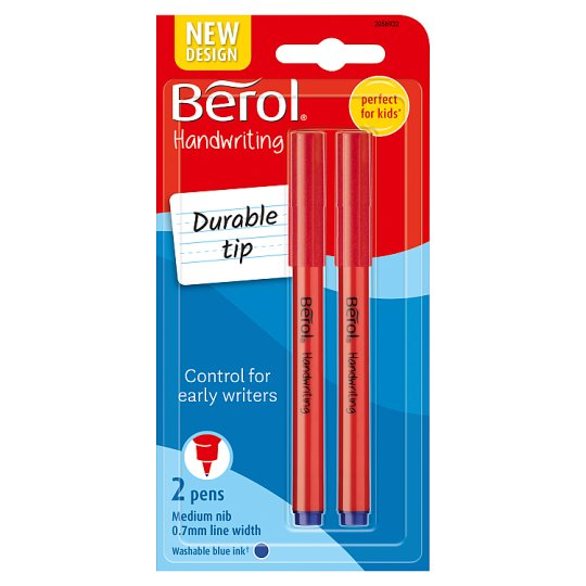 Berol Handwriting Pens Blue 2 Pack