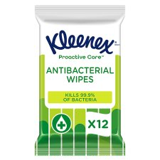Kleenex 12 Water Fresh Antibacterial Wet Wipes