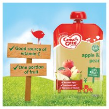 image 2 of Cow And Gate Fruit Pouch 4 Month+ Apple And Pear 100G
