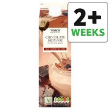 Tesco Chocolate Fudge Brownie Flavoured Milk Drink 1 Litre