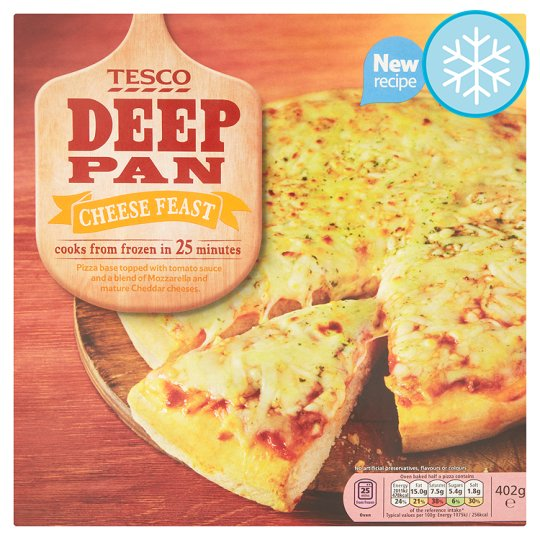 Tesco Deep Pan Cheese Feast Pizza 401G