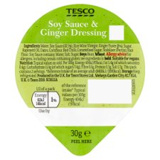 Tesco Soy And Ginger Dressing 30G