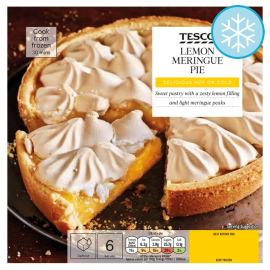 Tesco Lemon Meringue Pie 475g Groceries Tesco Groceries