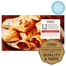 Tesco 12 Beef And Red Wine Lattices 360G