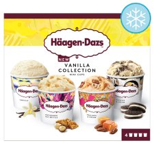 Haagen-Dazs Vanilla Ice Cream Collection Mini Cups 4X95ml