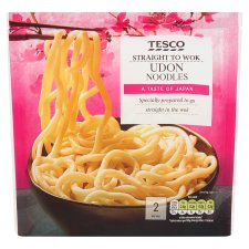 Tesco Straight To Wok Udon Noodles 300G