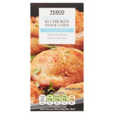 Tesco Reduced Salt Chicken Stock Cubes 10 Pack 100G