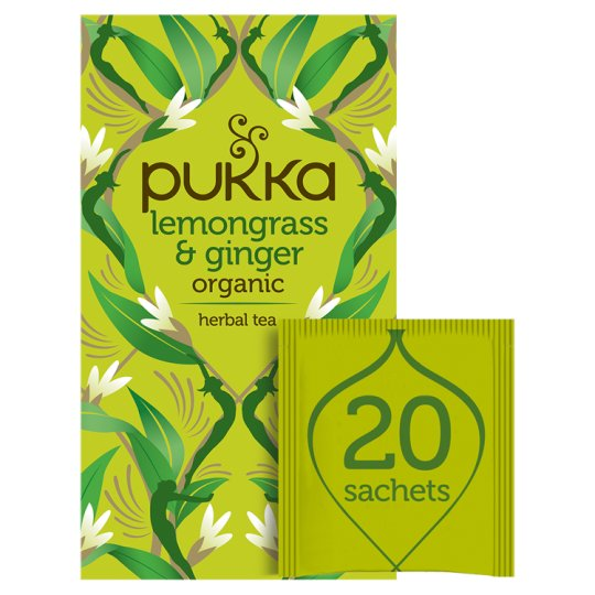 Pukka Organic 20 Lemon Grass And Ginger Tea Bags 36G