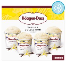 Haagen-Dazs Vanilla Mini Cups 4 X 95Ml