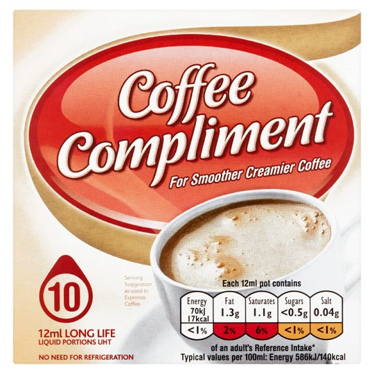 Compliment For Coffee 10 Mini Pots 120Ml