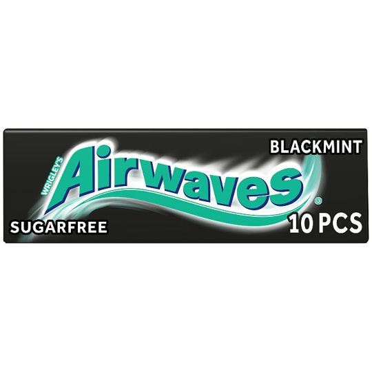 Wrigley Airwaves Black Mint Gum 10 Pellets