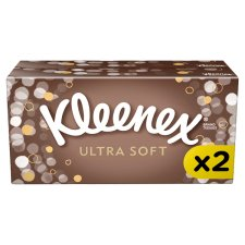 Kleenex Ultra Soft Twin Pack Tissues 64S
