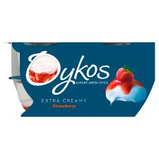 Danone Oykos Greek Style Yoghurt Strawberry 4X110g
