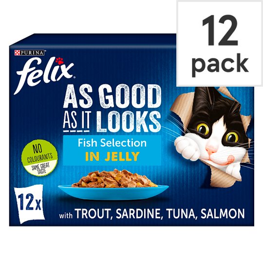 Felix Good As Senior Fish Selection In Jelly 12X100g