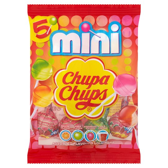 Chupa Chups Mini Bag Of Lollipops 5 Pack