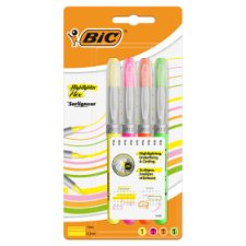 Bic Highlighter Flex Brush Asstd 4 Pack