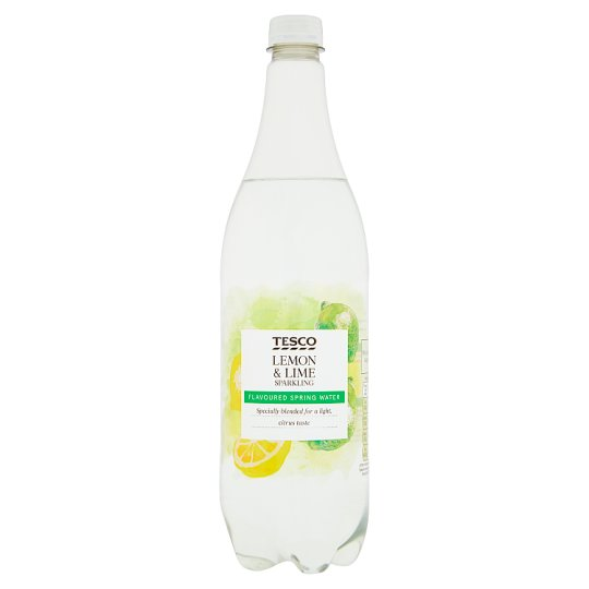 Tesco Sparkling Water Hint Of Lemon And Lime 1 Litre
