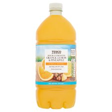 Tesco Double Concentrate Lemon And Pineapple And Orange Squash No Added Sugar 1.5L