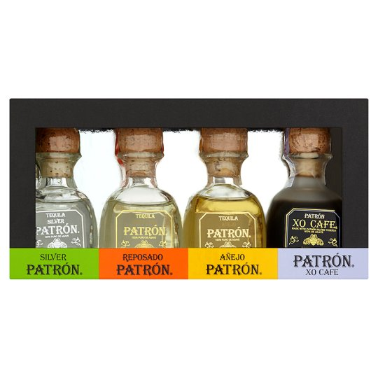 Patron Tequila Variety Gift Pack 5Clx4 - Tesco Groceries