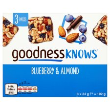 image 3 of Goodnessknows Blueberry And Almnd 3X34g Bars