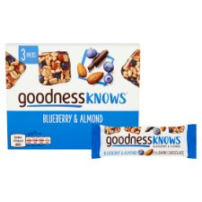 image 2 of Goodnessknows Blueberry And Almnd 3X34g Bars