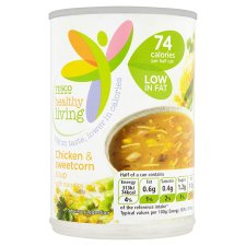 Tesco Healthy Living Chicken And Sweetcorn Soup 400G
