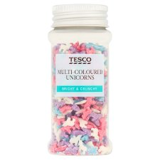 Tesco Multi Colourd Unicorn Sprinkles 45G