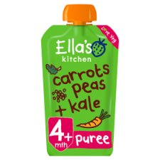 Ella's Kitchen Carrots, Peas And Kale 120G