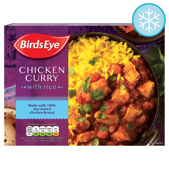 Birds Eye Chicken Curry With Rice 400G