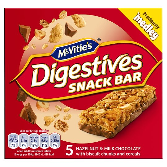 Mcvities Medley Digestive Hazelnut And Chocolate 5X30