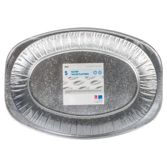 Jena Value Foil Platters 35Cmx24cm 5Pack