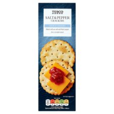 Tesco Salt And Pepper Cracker 185G