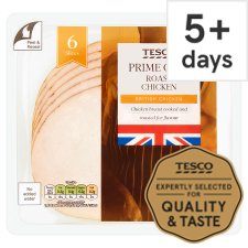 Tesco British Roast Chicken Slices 125 G